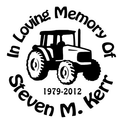 In Loving Memory Car Decals >> Tractor 2