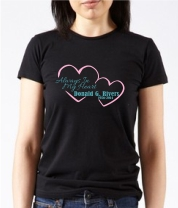 Ladie's Style Always In My Heart T-shirt Starting At $21.99 each