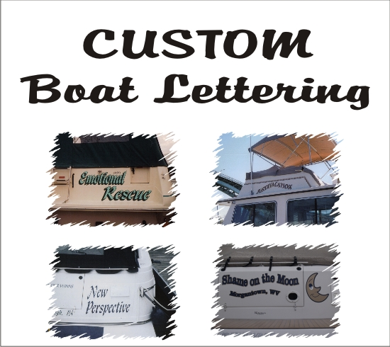Custom Boat Lettering - Boat & Marine Decals - In Loving