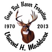 Full Color Buck - Designer Series Circle Memorial Decal