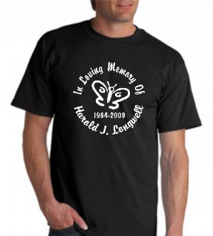 Men's Style Designer Series In Loving Memory T-shirt Starting At $17.99 each