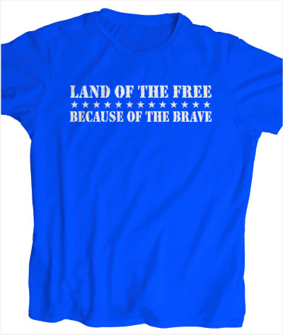 Men's Style Land Of The Free T-shirt Starting At $18.99 each