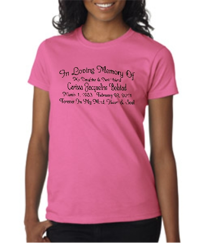 Ladies' Style In Loving Memory T-shirt Starting At $15.99 each
