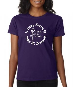 Ladies' Style Designer Series In Loving Memory T-shirt Starting At $17.99 each
