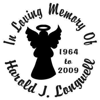 Angel 1 - Designer Series Circle Memorial Decal