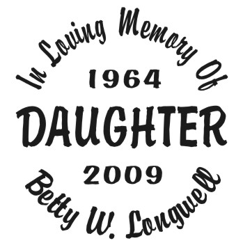 Daughter - Designer Series Circle Memorial Decal