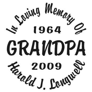 Grandpa - Designer Series Circle Memorial Decal