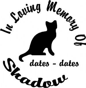 2238 Silhouette Cat Designer Series Circle Memorial Decal