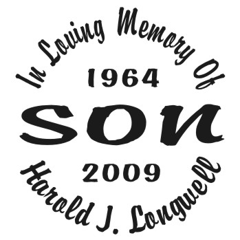 Son - Designer Series Circle Memorial Decal