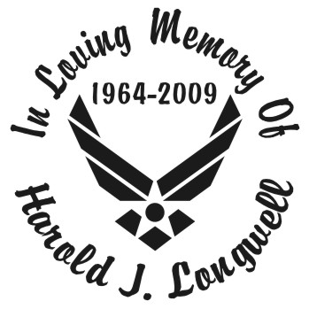 Air Force - Designer Series Circle Memorial Decal