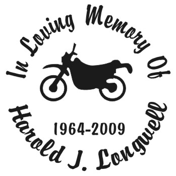 Dirt Bike - Designer Series Circle Memorial Decal
