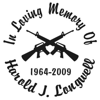 Guns Crossed - Designer Series Circle Memorial Decal