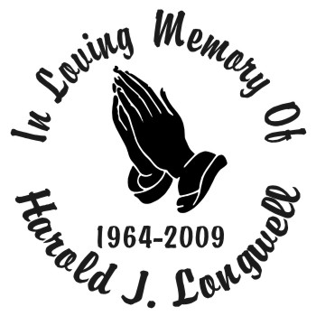 Praying Hands - Designer Series Circle Memorial Decal