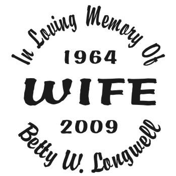 Wife - Designer Series Circle Memorial Decal