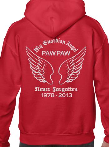 Custom Memorial Adult Unisex Hoodie Guardian Angel