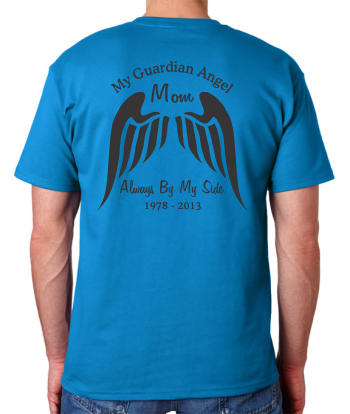 f40aea506 Custom Memorial - Guardian Angel - Adult Unisex T-shirt $21.99+ each - T- Shirts & Hoodies - In Loving Memory Car Window Decals