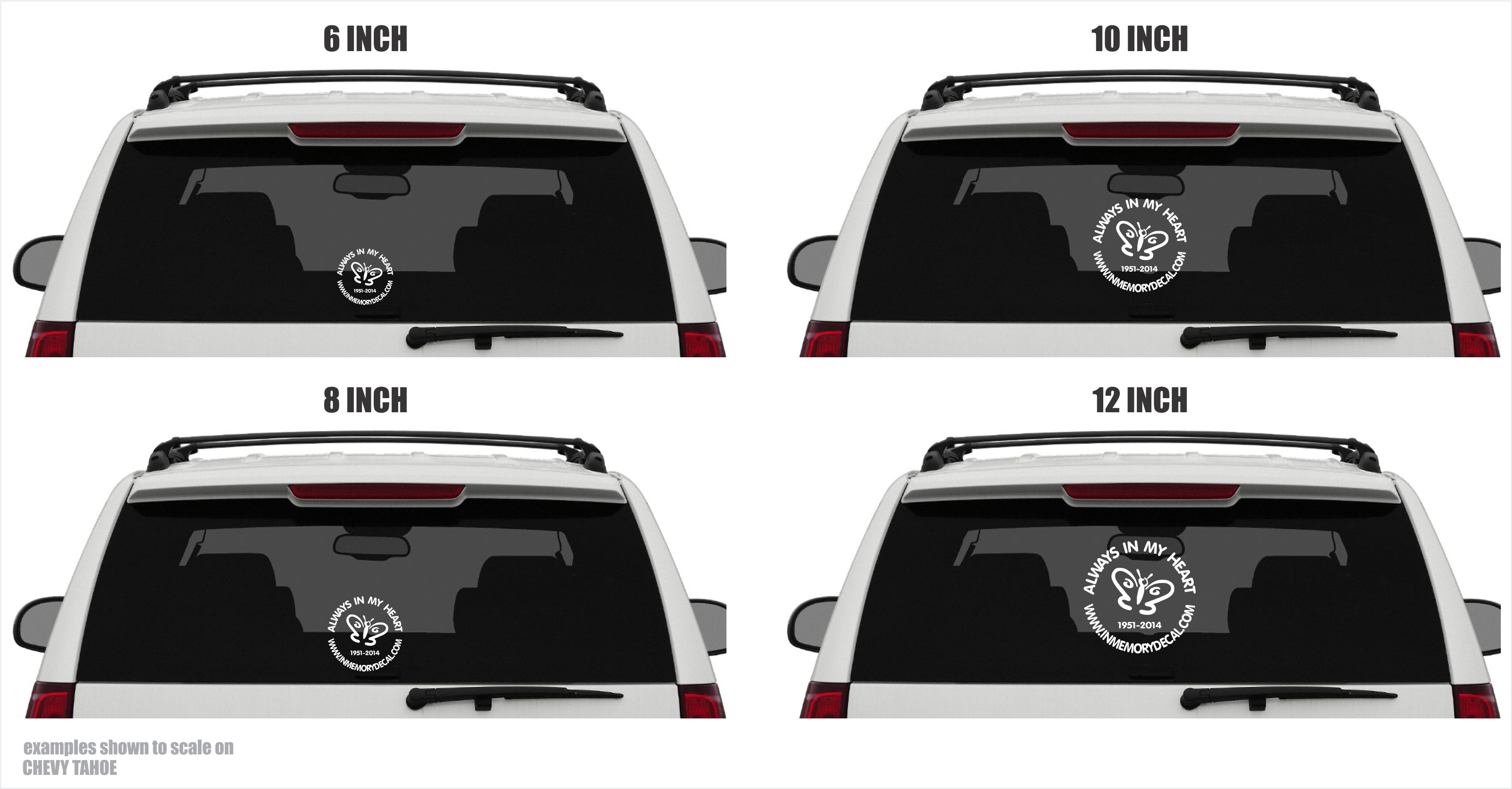 Your Decal Is Custom Made To Your Specifications.