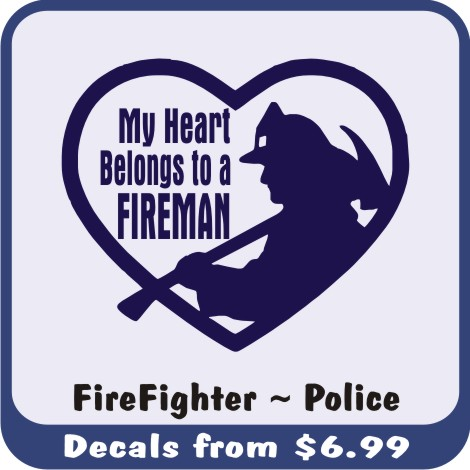 Fire Fighter and Police Vehicle Window Decals are a great way to memorialize a local hero