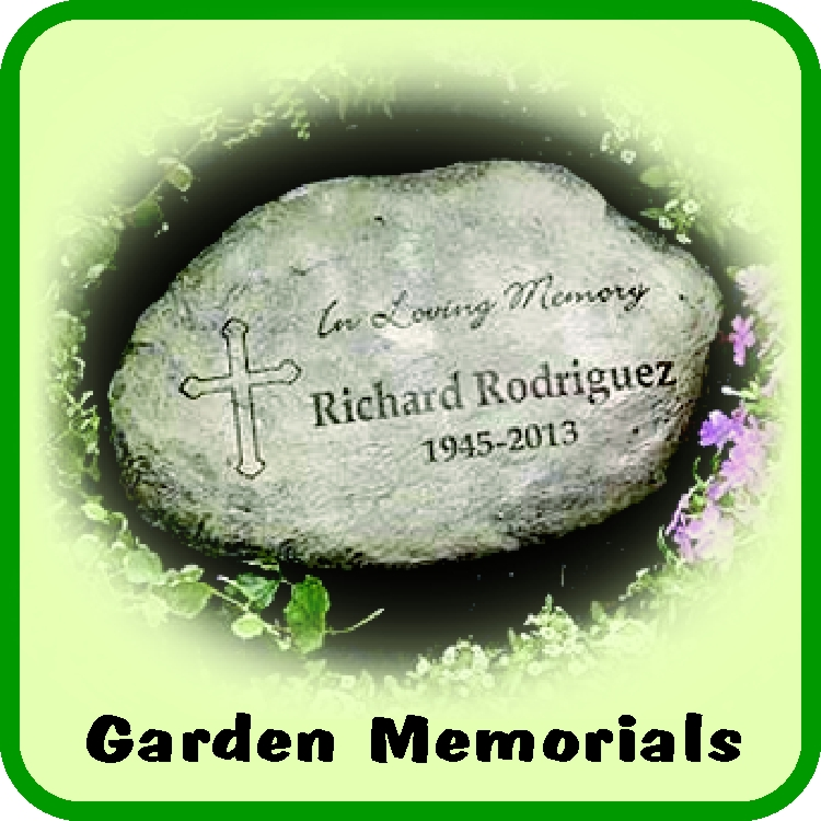 Personalized Garden Memorials can be placed outdoors to help remember a loved one or a cherished pet.