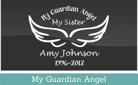 Don't forget to get a personalized vinyl memorial car window decal for the family pet