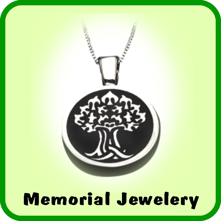 A great selection of high quality memorial jewelry.
