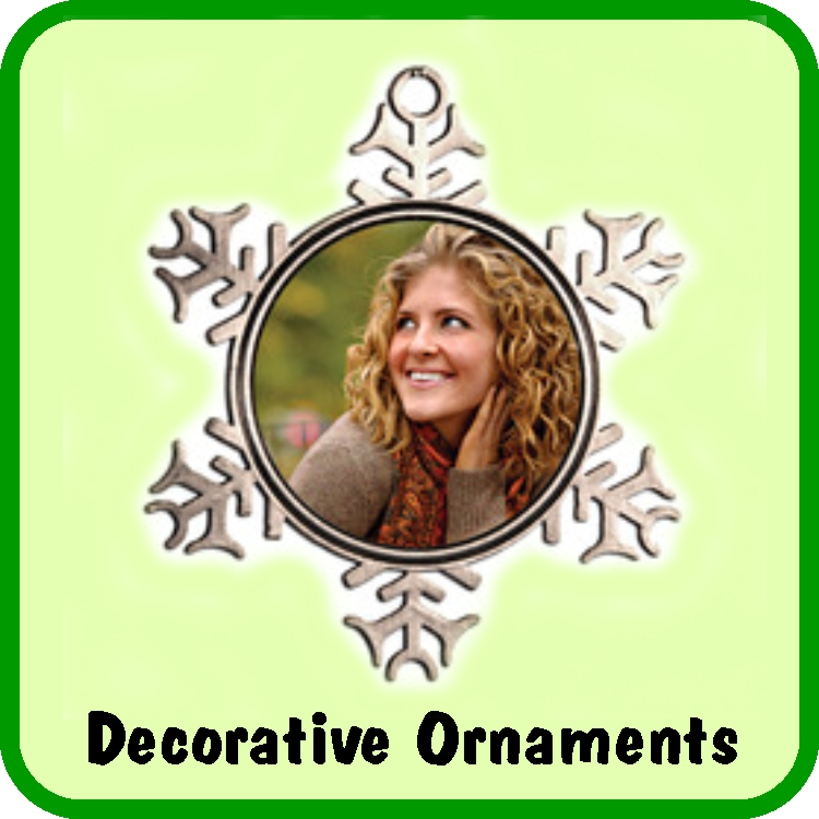 Make a personalized memorial holiday ornament to display on your tree, or on a desk stand.