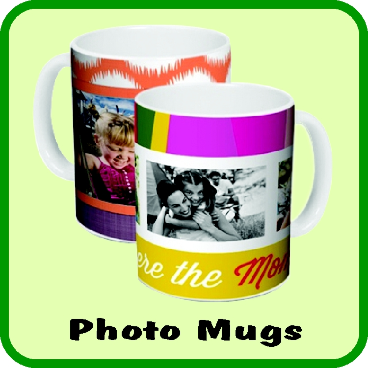 A great gift! Make your own memory! Personalize a photo mug online using your own Facebook or Instagram pictures.